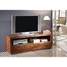 Meuble TV 140x45cm - Bois massif de palissandre laqué - DUKE  122 c9932a8cf5c5