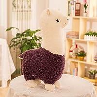 Zinsale Linda Alpaca Juguete suave Muñeca de oveja Almohada de peluche de felpa Peluches (Viola, 35cm) - Peluches y Puzzles precios baratos