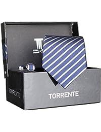 Torrente - Cravate Coffret Cofc8 Marine/Gris