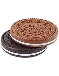 Sanwood Miroir Peigne Mignons Conception En Forme De Biscuits Chocolat Maquillage