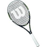 Wilson Racchetta da tennis unisex, Per gioco in tutte le aree, Per giocatori amatoriali, Monfils Lite 105, Misura 2, Nero/Verde, WRT59250U2