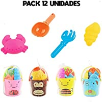 Ousdy Pack Cubo de Playa Animales 630ABCD / 12 Unidades / Multicolor