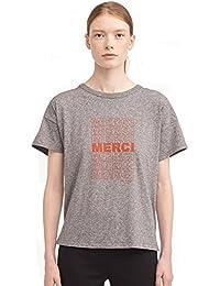 Rag & Bone Vintage Crew Neck Merci Graphic T-shirt in Dark Heather Grey