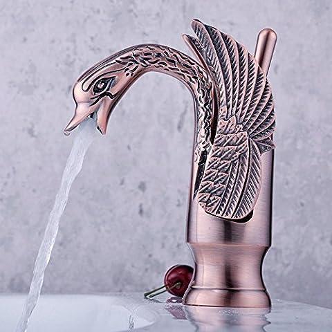 Furesnts casa moderna cucina e bagno rubinetto rame antico arte Swan bacino WC TAP TAP e stile classico fashion chiave dissipatore CygNET rubinetti,(Standard G 1/2 tubo flessibile universale porte)