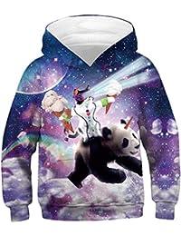 Socluer Garçon Sweat-Shirts à Capuche 3D Imprimé Cadeaux de Noël Toussaint  pour Les Enfants 9f136bb01d8e