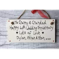 MadeAt94 40th Ruby Wedding Anniversary Gift Plaque Sign Granny Grandad