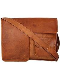 "Handcraft's ""George"" Handcrafted Brown Genuine Leather Best Quality Vintage Designer Laptop Bag Briefcase"