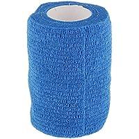 Banda de Compresión Primeros Auxilios Atención Tobillo Cinta Autoadhesiva Vendaje Gasa Azul 7.5cm para Muñeca Articulación