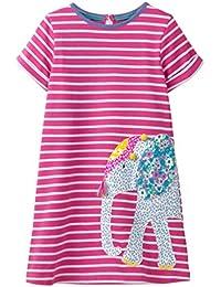 c79ade1c0 Bebé Niñas Vestidos,Vestido Casual de Manga Larga con Estampado Animal de  Dinosaurio para 1