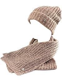 GIANMARCO VENTURI Set sciarpa e cappello donna 100% acrilico in box 71782  rosa 7321ce0c52f3