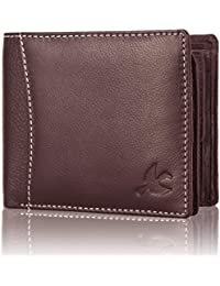 Hornbull Men'S Brown Themes Leather RFID Blocking Wallet