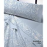Juego sábanas franela DANIELA Catotex. Cama de 180 cm. Color Azul
