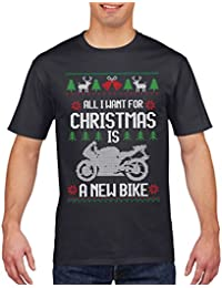 Motorcyle Christmas T Shirt All I want for Christmas is a New Bike T Shirt
