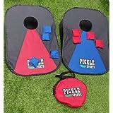 Pickle Sports Collapsible Cornhole Portable Lightweight Corn Hole Set 3' x 2' Cornhole Boards with 8 Cornhole Bean Bags