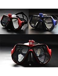 Bazaar Antivaho gafas gafas de buceo de buceo para adultos enmascaran gafas de lente de cristal templado para Gopro cámara
