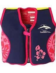 Konfidence - Chaleco natación, azul marino/rosa (Navy Hibiscus), 18-