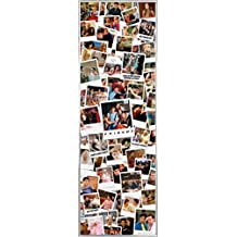 Friends Póster para la puerta con Marco (Plástico) - Polaroids (158 x 53cm)