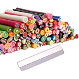 Bundle Monster - 100 bâtons fimo de décorations autocollantes relief pour ongles - manucure