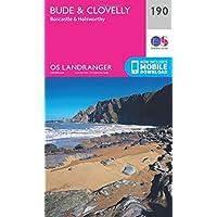 Landranger (190) Bude & Clovelly, Boscastle & Holsworthy (OS Landranger Map)