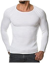 Keephen Lässiges Strick-T-Shirt mit Rundhalsausschnitt mit Kapuze T-Shirt  mit Rundhalsausschnitt Herren-T-Shirt mit Rundhalsausschnitt… cb725dc4ee