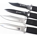 Ocamo Outdoor Self-defense Legging/Paratroopers Knifes Stainless Steel Diving Straight knifeBlack curved blade