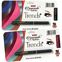 K-Veda Combo Eyeyurvedic Kohl Liner Trendz Black Shimmer, Lush Berry
