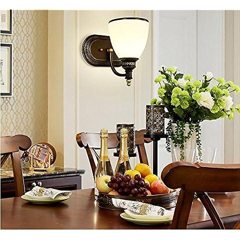 FEI&S lampada specchietto retrovisore regolabile lampada frontale moderna luce di rame lampada da parete #7F