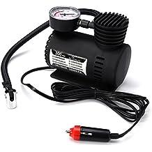 WINOMO Compresor de aire Mini Compresor de aire portátil DC 12V 300 PSI(negro)