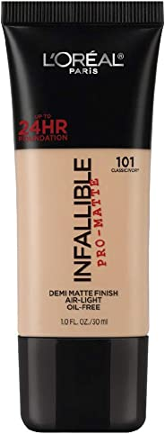 L'Oreal Paris Infallible Pro-Matte Foundation, Classic Ivory 101, 30g