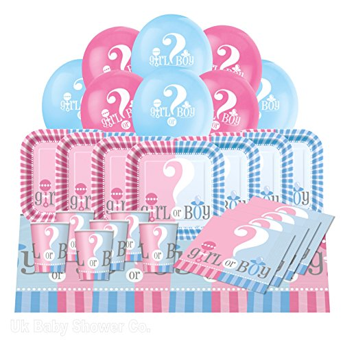 Uk Baby Shower Co Baby Shower Essential Party Pack from Gender Reveal Range (32 Guest)