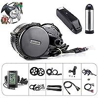 Bafang BBS01B 36V 250W / 350W / 500W Kit de conversión de Motor Medio Kit de Bicicleta eléctrica o Kit de Motor Medio con batería