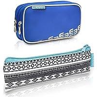 Pack bolsa isotérmica Dia's en color azul y estuche Insulin's con estampado indie | Elite Bags | Kit de 2 tamaños: 1 bolsa grande + 1 estuche pequeño | Lote ahorro