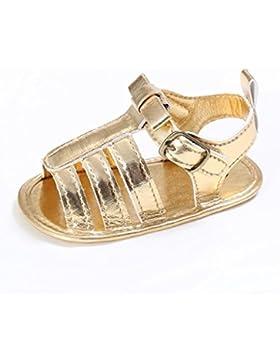 hunpta para bebé niñas Cute t-tied suave zapatos de cuna Prewalker suave Suela antideslizante zapatos sandalias
