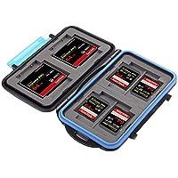 KING OF FLASH Anti-shock Waterproof Memory Card Case Holder Hard Storage 4x CF (Compact Flash) 8x SD/SDHC (Secure Digital) MC-2