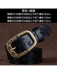 ZHANGYONG Femme ceinture en cuir ceinture en cuir large féminin élégant et  polyvalent, fine marée ceinture d innocence, ses genoux ,… 77fc5e18c1d