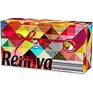 Renova Pañuelos faciales Red Label Bicolor Fucsias Verdes - 80 pañuelos