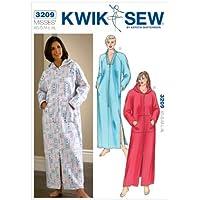 Kwik K3209 - Patrones de costura para batas de tamaño extra pequeño (talla S,