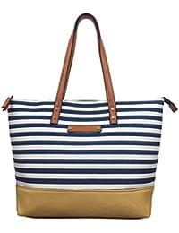 Canvas Bag Beach Bag with zips Designer tote Bag BEACH Large shoulder bag  shopper summer bag with faux leather… d26b9d82396fe