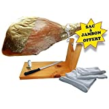 Lot N°41 : JAMBON SERRANO AVEC OS S/ PATTE 10 MOIS ENV.:6,5KG ET SON SUPPORT