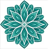 NISH! Rangoli Sticker #015 (Vinyl, Small - 12in X 12in, 50 Pieces) | Rangoli Stickers Floor | Rangoli Floor Stickers | Rangoli Stickers For Wall | Rangoli Stickers For Doors | Diwali Rangoli Stickers