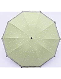 Sucastle Diez huesos, aumentado, hilado neto, hueco, vinilo, paraguas, plegable