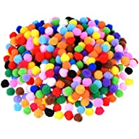 ROSENICE 10cm assorti de 1200pcs pompons pompons pour les décorations de l'artisanat créatif bricolage (multicolore)
