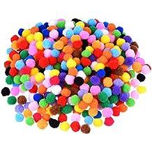 ounona 1200pcs Juego de pompones para DIY Creative Crafts adornos (color mezclado)
