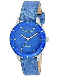 Cartney Colors Analog Blue Dial Women's Watch - CT-BLU-94