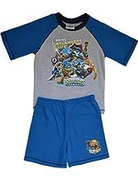 i-smalls Ltd Pyjama enfant à manches courtes en coton Motif Skylanders Swap Force