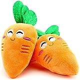 Healthy Clubs Jouet pour chien en peluche en forme de carottes avec couinements sonores 1000Pcs