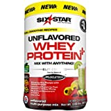 Six Star Pro Nutrition Elite Series Whey Protein Powder, Unflavored, 2lb (Packaging may vary) by Six Star