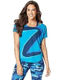 Zumba Fitness® Z Tulip Top Camiseta sin Mangas, Mujer, Azul, XXL