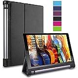 "BeePole Lenovo Yoga Tab 3 10.1"" Funda - Funda protectora inteligente ultradelgada de cuero sintético para tablet Lenovo Yoga Tab 3 10.1""(X50), con función magnética despertador/apagado automática, Negro"
