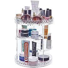Choice Fun Acrílico rotatorio maquillaje organizador de plástico transparente de rotación de visualización